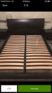 Dark brown solid queen bed****MUST GO ASAP Waitara Hornsby Area Preview