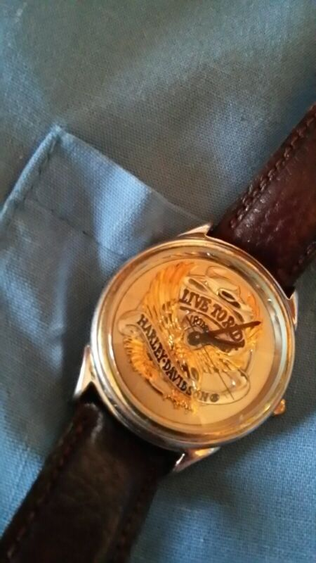 harley davidson wrist watch 9962794v  live to ride gift collectible. running