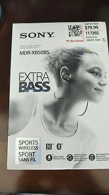 Sony Extra Bass Bluetooth Headphones, Best Wireless Sports Earbuds with Mic/ Mic