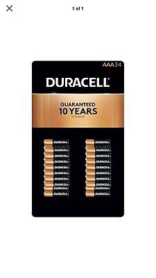34 Duracell CopperTop AAA Batteries, Expires 2027, NIP,BEST (Best Price Duracell Batteries)