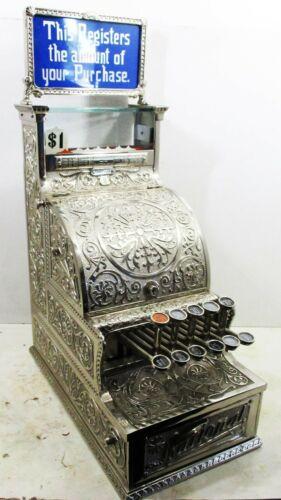 National Cash Register Model #5 Nickel-Plated Candy Store Cash Register