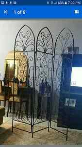 Wrought iron decorative accent screen room divider Currans Hill Camden Area Preview