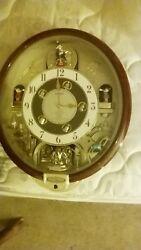 Seiko Melodies in Motion Musical Wall Clock 7 Beatles Songs Swarovski