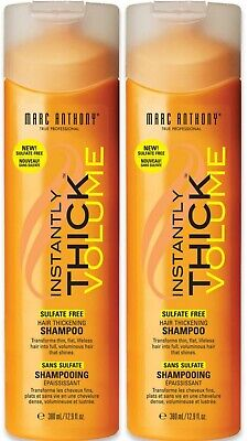 2 Pack Marc Anthony Instantly Thick Hair Thickening Shampoo 12.90 oz Marc Anthony Instantly Thick Shampoo