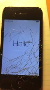 Cracked iPhone 4 *STILL WORKS*