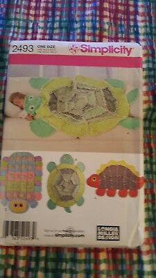 Simplicity Pattern 2493 Rag Quilt Turtle Caterpillar Dinosaur Throw Blankets UC - Turtle Dinosaur Costume