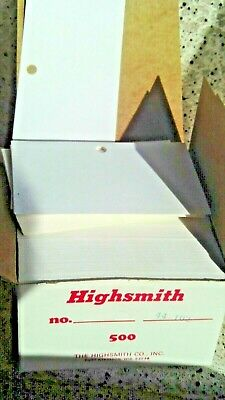 500 Count Index Cards 4 X 6 Size Box Nos Highsmith 44 102 W.top Center Hole