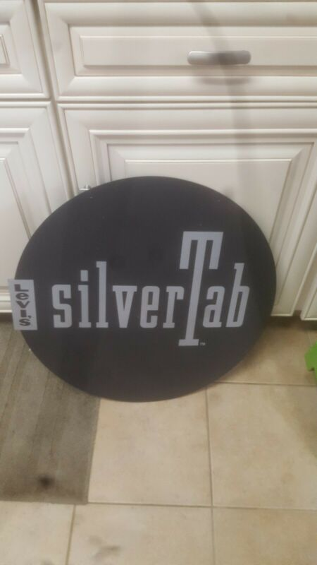 Levi Silver Tab Jeans, Double Sided Plastic Advertising Sign