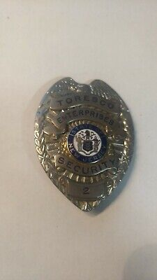 Vintage Security Officer Badge State Of New State Toresco Ent. Free Shipping