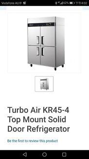 Commercial fridge and freezer