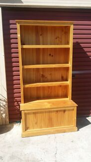 Solid timber wooden bookshelf with bottom storage   935mm wide  1 Minto Campbelltown Area Preview