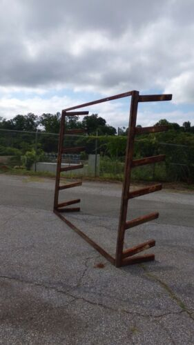 Industrial 6 Level Wall Mount Pipe Rack