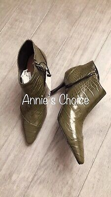 ZARA Women's Heeled Animal Print Ankle Boots(Khaki,US 6.5, 7.5, 8/EUR 37, 38,39)