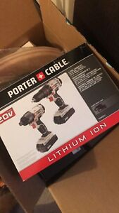 BNIB Porter Cable 2 tool combo kit