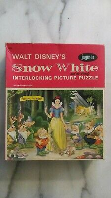 JAYMAR - DIsney's Snow White and the Drawfs Vintage 1964 Jigsaw Puzzle-Complete