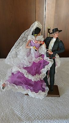 Sweet Vintage Flamenco Dancers Dolls Man & Woman made in Spain Spanish castanets