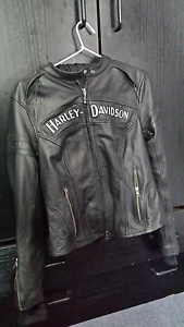 Harley Davidson women's leather riding jacket North Ryde Ryde Area Preview