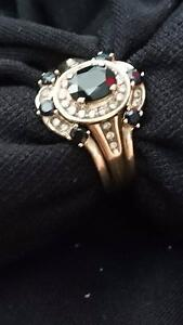 Black sapphire and diamond trilogy ring Fortitude Valley Brisbane North East Preview