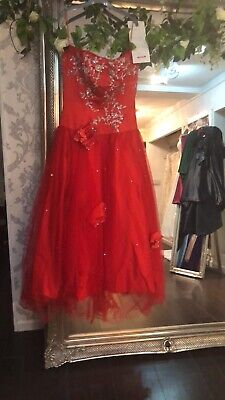 pageant dresses | Red Prom Dress | Ball Gown | Drop Waist  | Size 8/10 for sale  Shipping to Nigeria