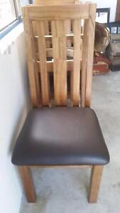 Timber chairs wirh vinyl brown cover Fairfield Heights Fairfield Area Preview