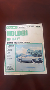 Gregory's Holden HQ -HJ V8 Service and Repair Manual Clarence Gardens Mitcham Area Preview