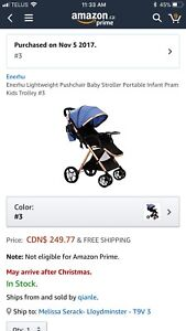 New in box stroller
