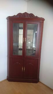 Jarrah corner cabinet