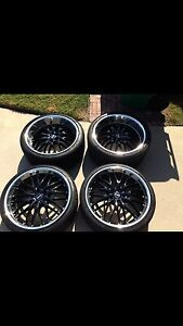 "Brandnew 22"" mrr gt1 blackchrome"