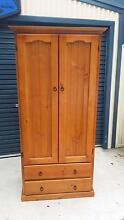 Solid Pine 2 Door 2 Draw Wardrobe Airds Campbelltown Area Preview