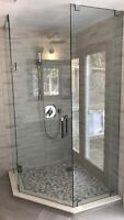 SHOWER GLASS DOORS ENCLOSURES RAILING STAIRS DECKS MIRRORS ETC