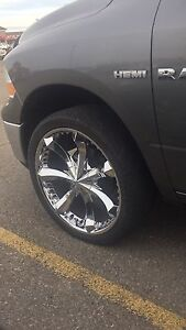 """24"""" Rims and Tires 295-35-24"""