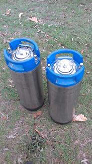 2 x 18 Litre homebrew kegs