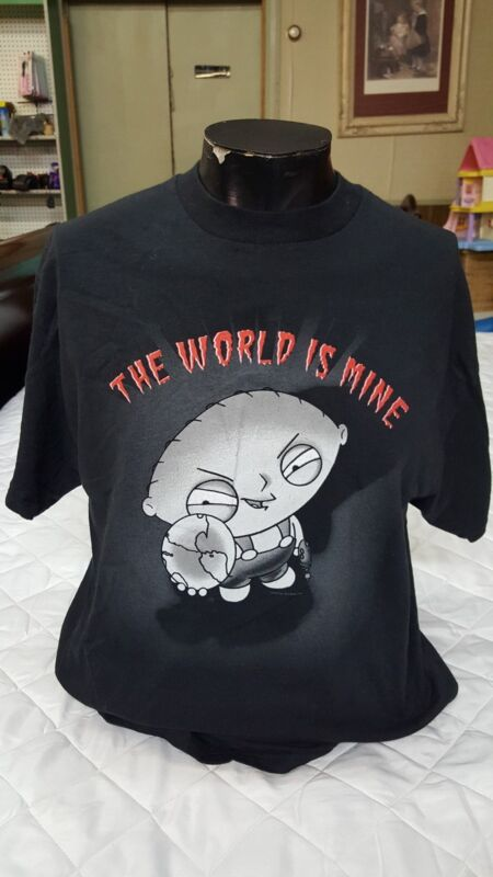 Family Guy Stewie The World Is Mine Large Mens  T-shirt