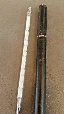 Labor-thermometer (Altes Laborthermometer 0°C - 100°C, Stabthermometer, Glas im Etui)
