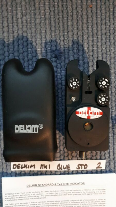 DELKIM STD BLUE EXC COND + HARD CASE + NEW O Ring & INSTRUCTIONS CARP FISH