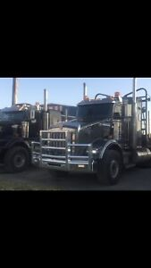 2007 kenworth t-800 log truck and 1996 superior trailer.