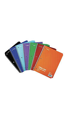 Staples 1-subject Notebook 8 X 10.5 College Ruled 70 Sh. Assorted 1485056