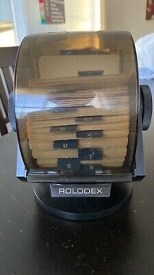 Vintage Rolodex Model Sw-24c Large Wood Grain Finish-swivel Base
