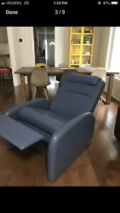 Italian leather modern recliner lounge chair