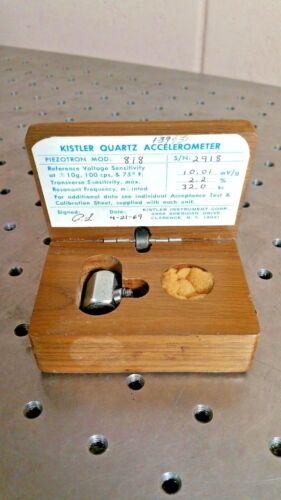 Kistler Quartz Accelerometer Calibration 818