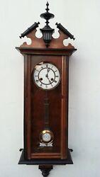ANTIQUE JUNGHANS GERMAN PENDULUM WALL CLOCK REGULATOR WITH GONG