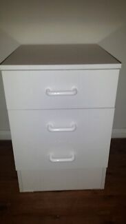 White solid wood bedside tables  Malabar Eastern Suburbs Preview