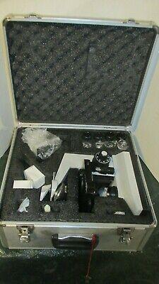 Omano Compound Binocular Microscope Lighted W Case Nice Lqqk