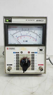 Kikusui Avm23 Ac Voltmeter