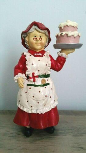 "Mrs. Santa Claus The Baker 8"" Figurine NEW"