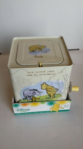 Disney Winnie The Pooh Baby Classic Jack in The Box Musical Toy for Babies