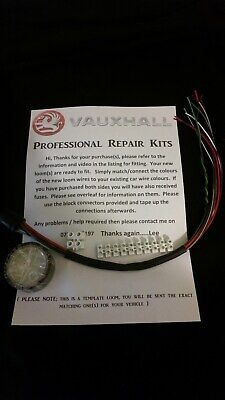 VAUXHALL / OPEL Zafira B Rear Door - Wiring loom fix kit -  SPECIALIST SUPPORT
