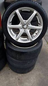 """18"""" WHEEL AND TYRE PACKAGE GOLF VW FORD TOYOTA SUBARU Fawkner Moreland Area Preview"""