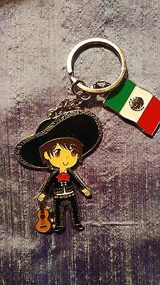 Cute Mexican Key Chain! Colorful. Fun! Lightweight. Free Shipping