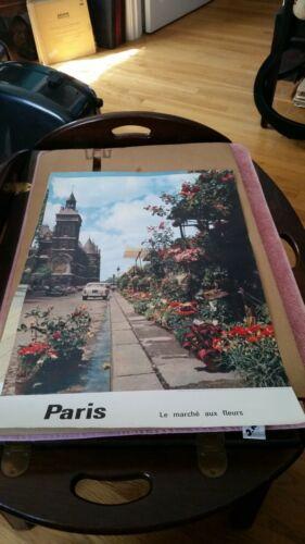 Original Vintage Poster Paris  Le marche aux fleurs
